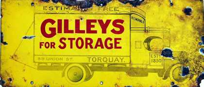 Gilleys Storage Sign