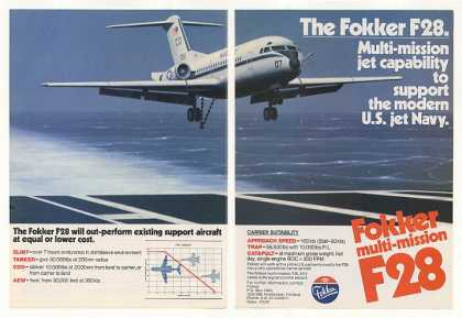 US Navy Fokker F28 Jet Aircraft Photo (1982)