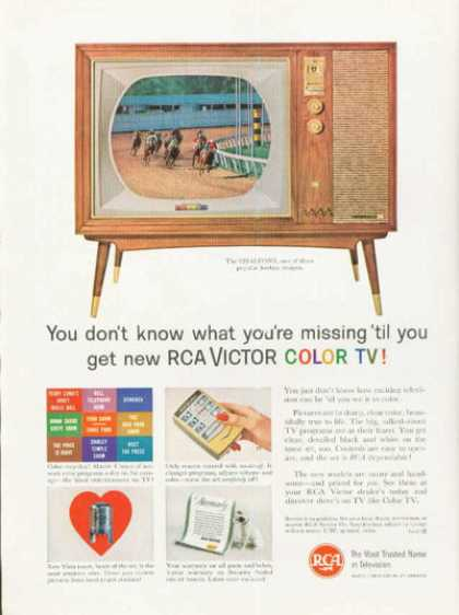 Rca Victor Color Tv Television Ad Remote (1961)