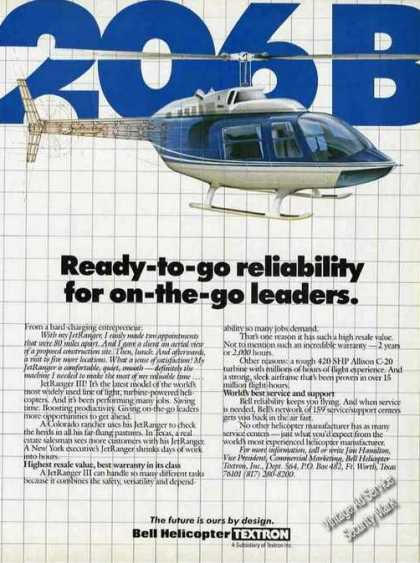 Bell Jetranger Iii Model 206b Helicopter (1986)