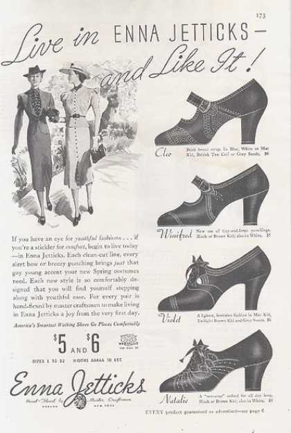 Enna Jettick's comfortable shoes (1937)