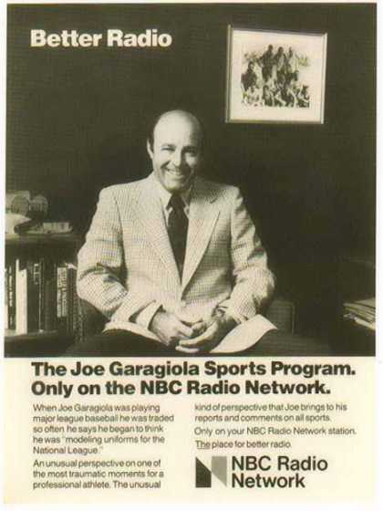 NBC Radio Network &#8211; Joe Garagiola &#8211; Baseball (1977)
