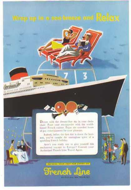 French Line Cruise -Wrap up in a Sea-Breeze (1955)