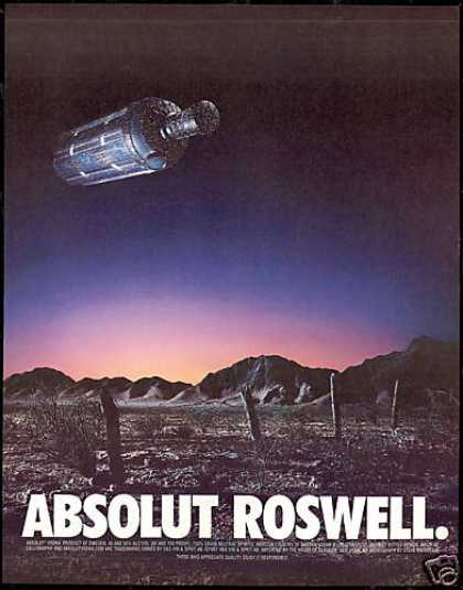 Absolut Roswell Vodka Spaceship Bottle (1997)