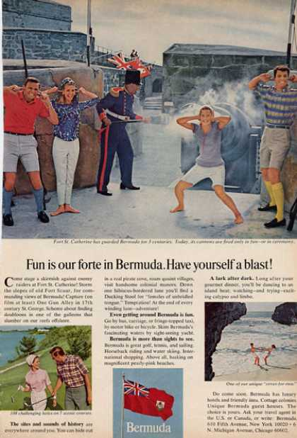 Bermuda Travel Fort St Catherine Cannon (1966)