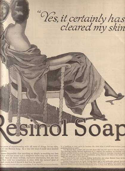 Resinol's delightful toilet soap (1917)