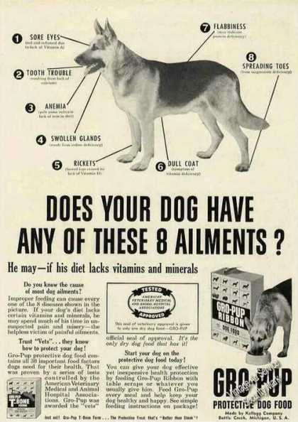 German Shepherd Photos Gro-pup Dog Food (1953)