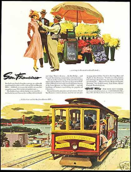 California Travel Trolley Car San Francisco (1953)