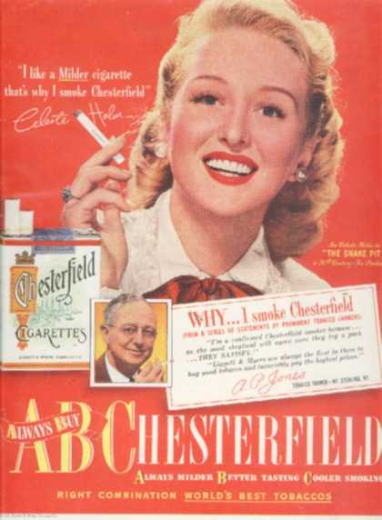 Chesterfield – Celeste Holm (1948)