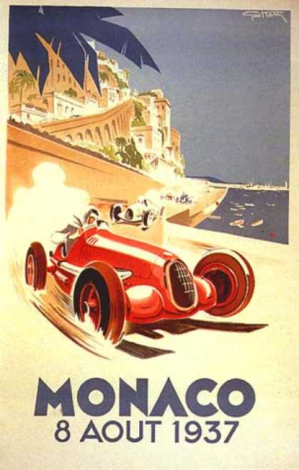 Monaco Grand Prix by Geo Ham (1935)