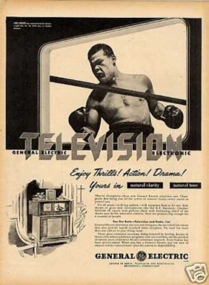 General Electric Television Ad Joe Louis (1947)