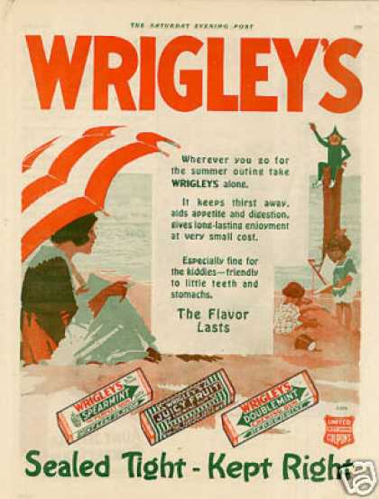 Wrigley&#8217;s Chewing Gum Color (1920)