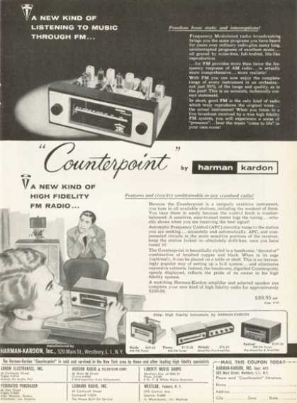 Harman Kardon Counterpoint Fm Portable Radio (1955)