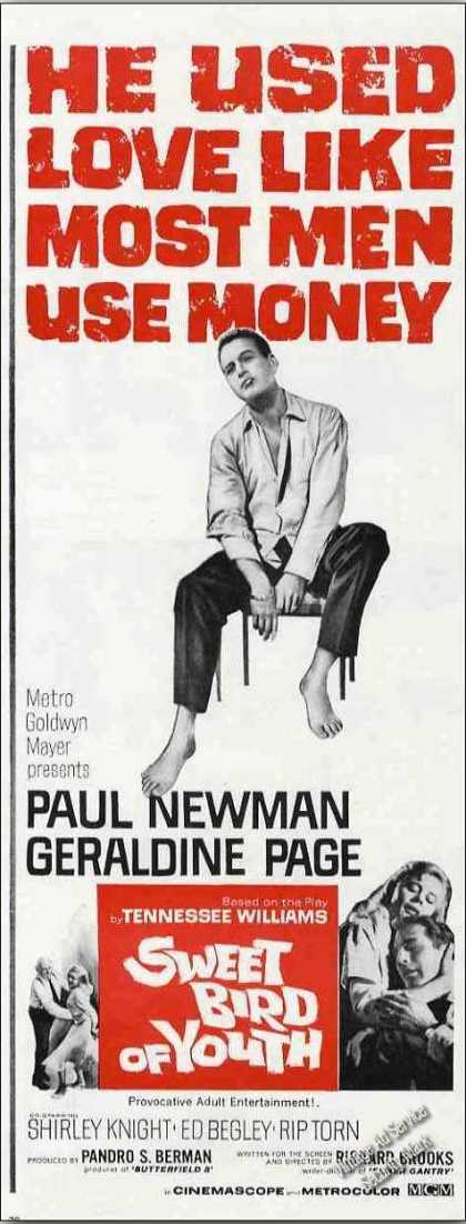 "Paul Newman ""Sweet Bird of Youth"" Movie (1962)"