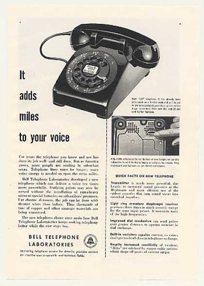 Bell Telephone 500 Phone More Powerful (1953)
