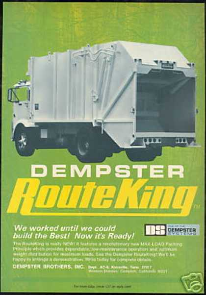 Dempster Brothers Route King Garbage Dump Truck (1970)