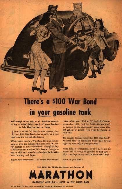 Marathon's War Bonds – There's a $100 War Bond in your gasoline tank (1943)
