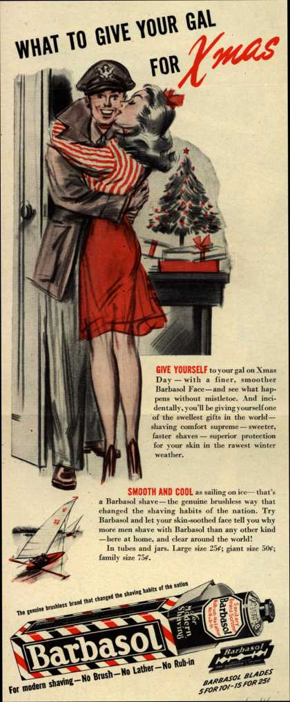 Barbasol – What To Give Your Gal For Xmas (1944)