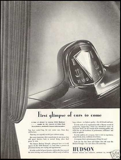 Hudson Car Triangle Emblem Coming Glamour (1945)