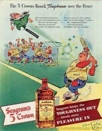"Seagram's 5 Crown Whiskey Ad ""The 5 Crowns... (1942)"