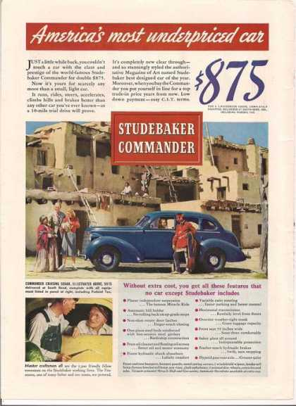 Studebaker Commander Blue Car (1938)
