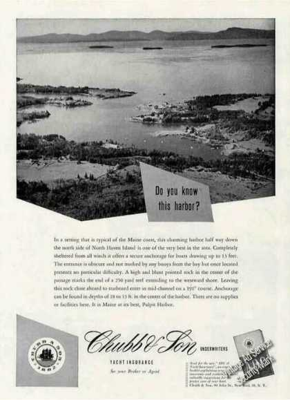 Pulpit Harbor Me Photo Chubb & Son Rare (1956)