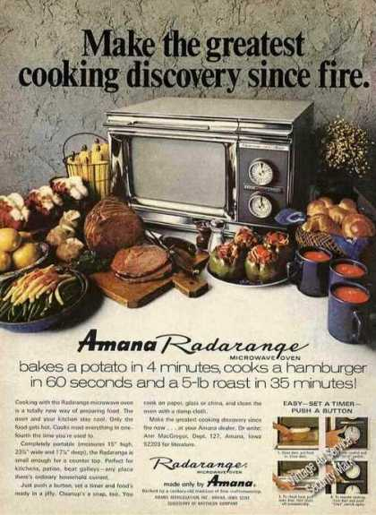 Amana Radarange Greatest Discovery Since Fire (1970)