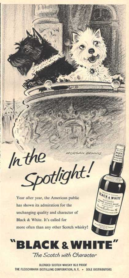 Black & White Scottish Ad In the Spotlight Opera (1959)