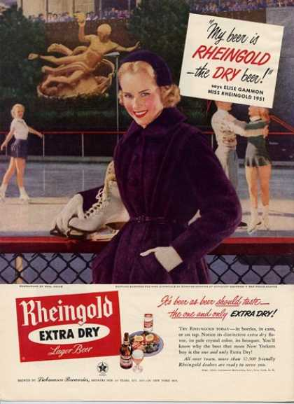 Rheingold Beer Girl Ice Skating (1951)