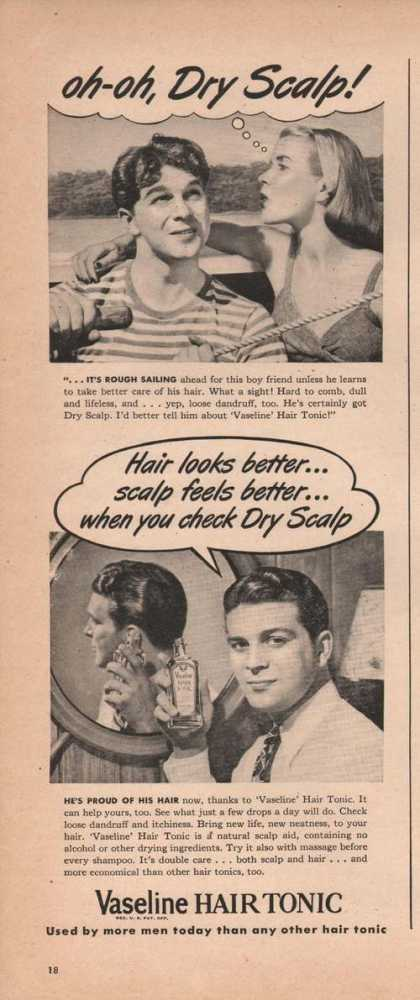 Hair Tonic for Men Vaseline (1946)