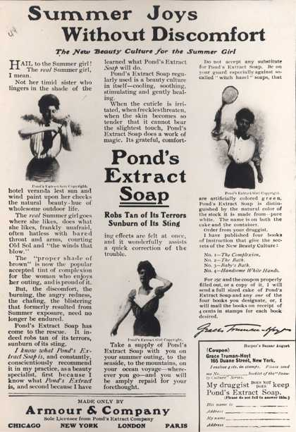 Pond's Extract Co.'s Pond's Extract Soap – Summer Joys Without Discomfort (1906)