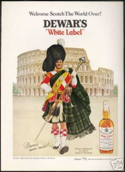 Dewar's Scotch Whisky Highlander Colosseum Rome (1968)