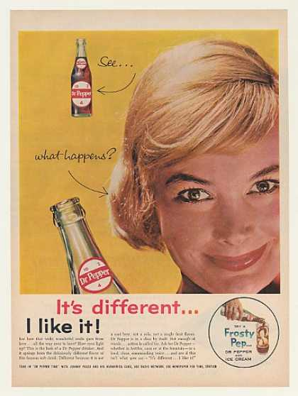 Dr Pepper 10 2 4 Bottle Different Lady Smile (1961)