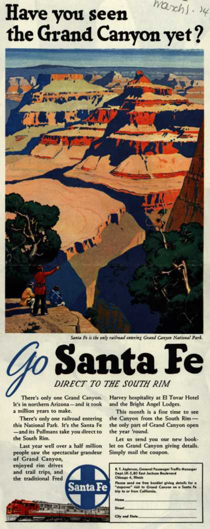 Santa Fe System Line's Grand Canyon – Have you seen the Grand Canyon yet? (1949)