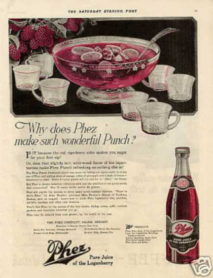 Phez Loganberry Juice Color (1920)