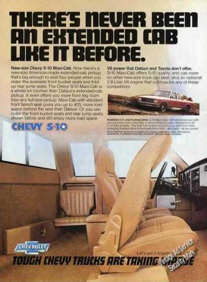 Chevy Chevrolet S-10 Extended Cab Pickup Truck (1983)