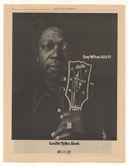 B.B. King Lucille Talks Back Photo (1975)