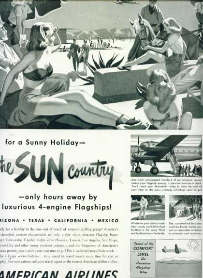 American Airlines Sun Country Holiday C (1950)