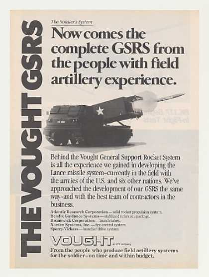 US Army Vought GSRS Lance Missile System (1979)