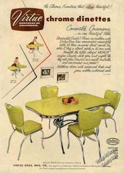 Virtue Brothers Chrome Dinettes Los Angeles Ca (1953)