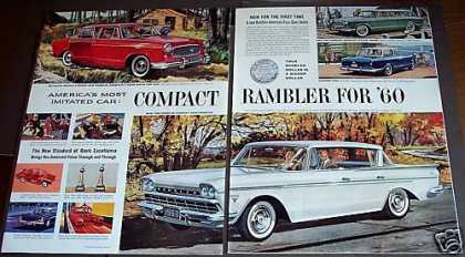 Compact Rambler Cars for '60 Sedans, Wagons (1959)