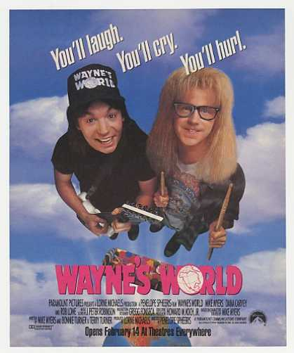 '92 Mike Myers Dana Carvey Wayne's World Movie Promo (1992)