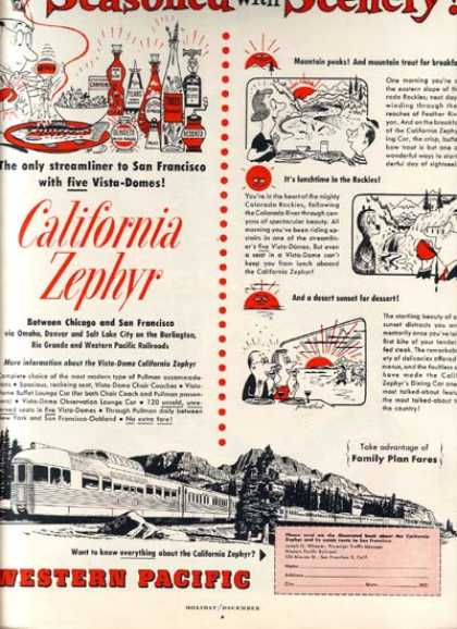 Western Pacific's California Zephyr (1954)