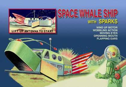 Space Whale Ship with Sparks