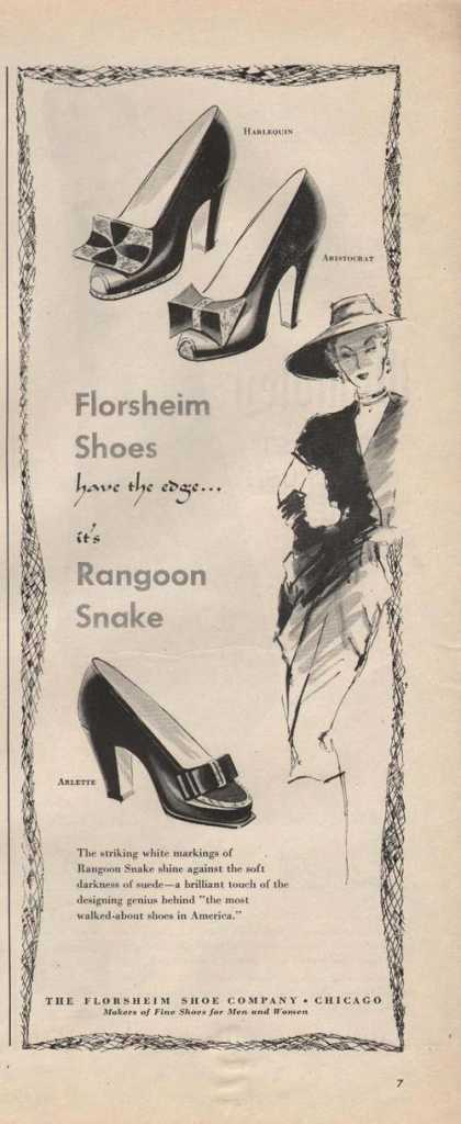 Florsheim Rangoon Snake Womens Shoe (1946)