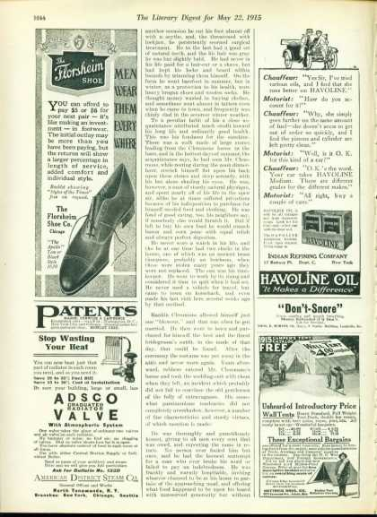 The Florsheim Shoe the Apollo Style 1/4 Page (1915)