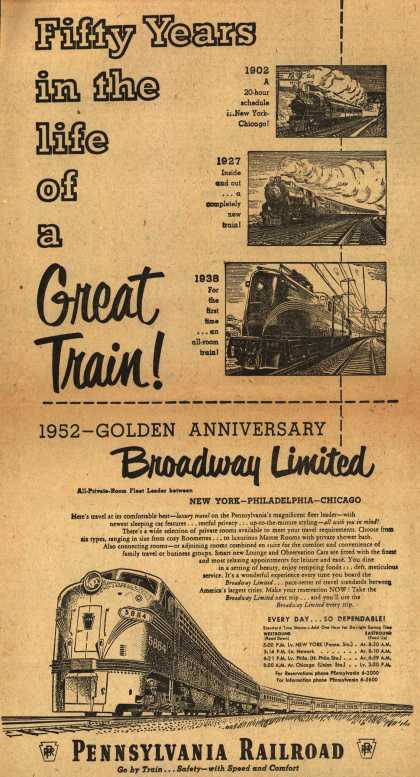 Pennsylvania Railroad – Fifty Years in the life of a Great Train (1952)