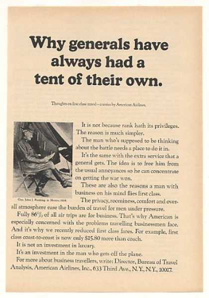 Why Generals Have Own Tent American Airlines (1964)