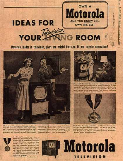 Motorola's Television – Ideas For Your Television Room (1950)