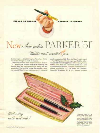Parker Pen Holiday – Aero-metric Parker 51 (1949)